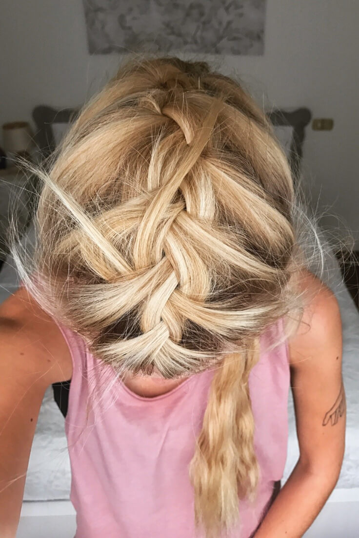 Girl with a messy braid.