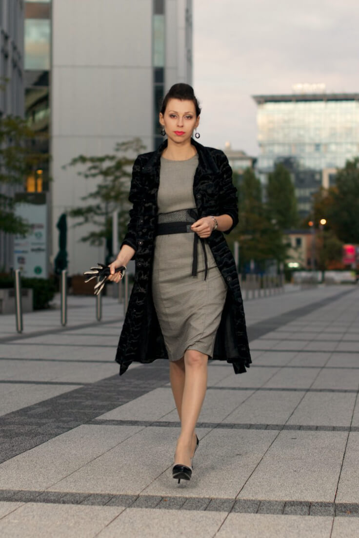 Tone down a fab dress with a low-key overcoat and start strutting!