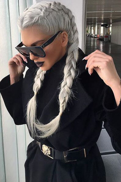 Sleek boxer braids