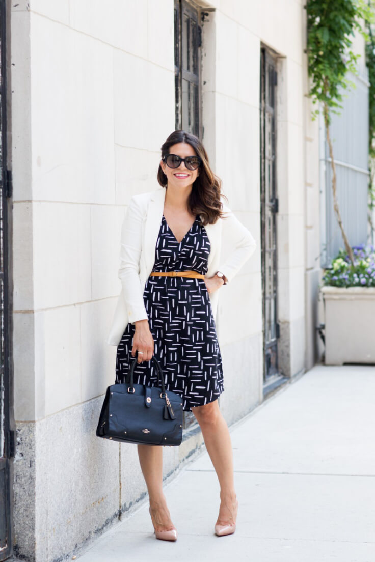 See how easy it is to incorporate that summer dress you love into the work outfit.