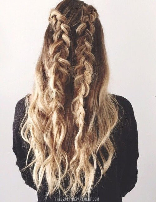 Two-sided messy braid