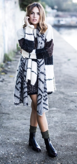 Wrapped in coziest fabrics: grab your softest woolen knits and layer them in a most fashionable way