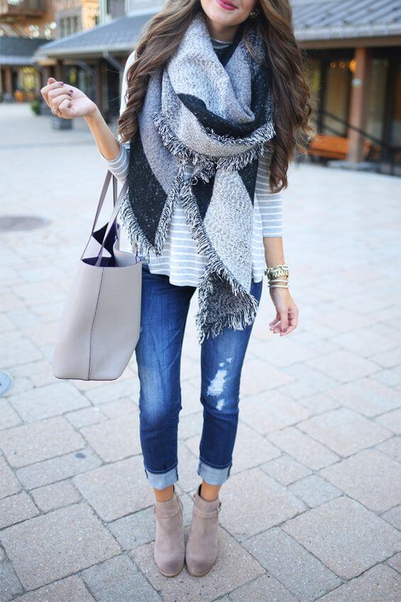 A blanket scarf will never go out of style and it's a great way to add some drama to your fall look.