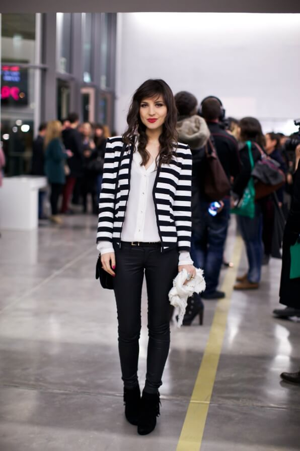 Trust black and white stripes to aguarantee signature Parisian style