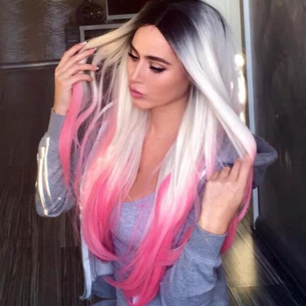 "How about this ombre hair color if you want something that's a little ""out there""?"