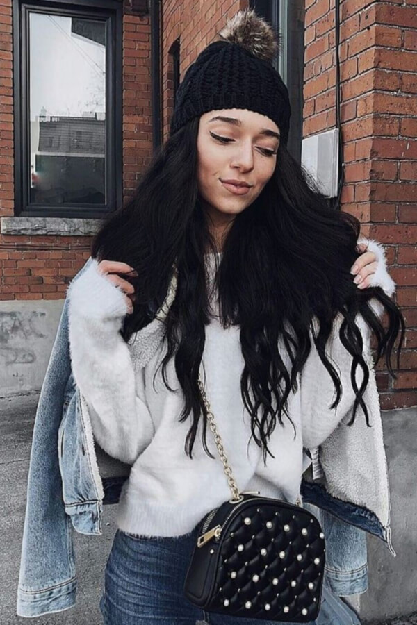 A beanie will beautifully complement your natural waves