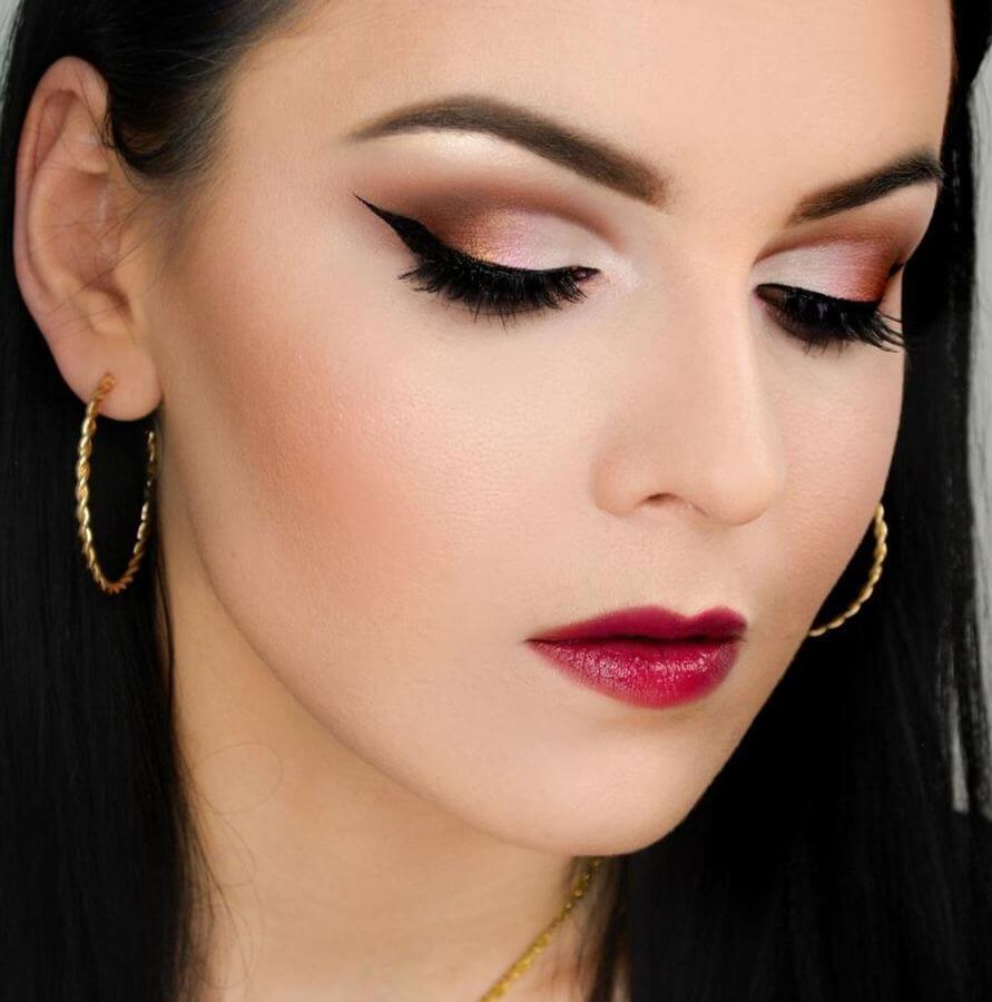 Make a statement with a smokey eye cut crease and bold winged liner