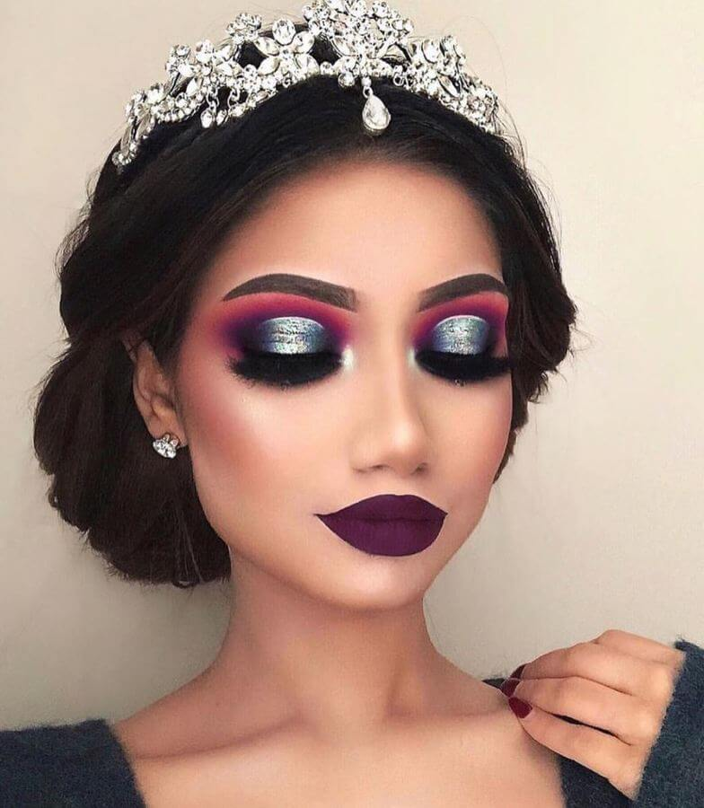 If you're going for a dramatic look, you may as well go all out!