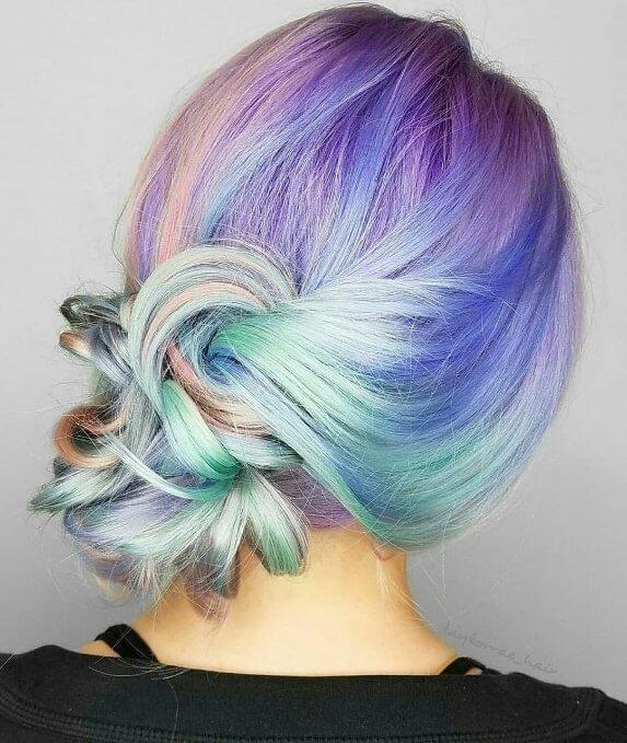 Get your inspiration from unicorns this spring - the prettiest way to breathe new life into mid-length hair