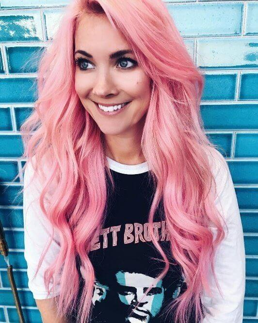 Daring fashionistas will swoon over this full-blown candy cane pink color - absolutely beautiful on loose flowing waves of all lengths