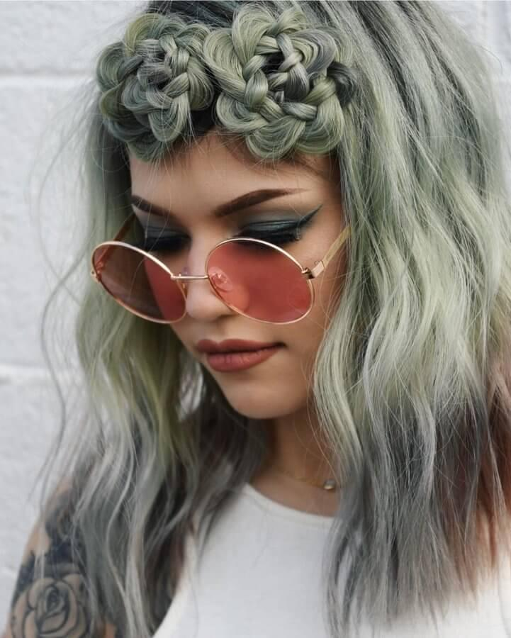 The succulent trend has taken over social media - braid your hair into beautiful blooms that symbolize nature in all its vibrant color