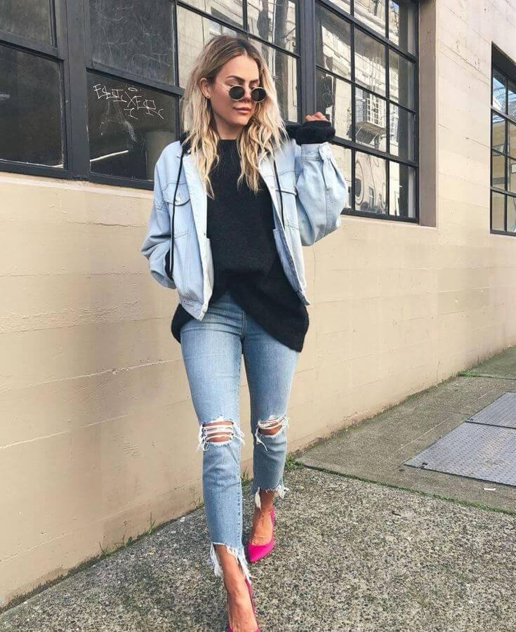 Denim jackets are super stylish, timeless, and fun to wear, especially when they're oversized