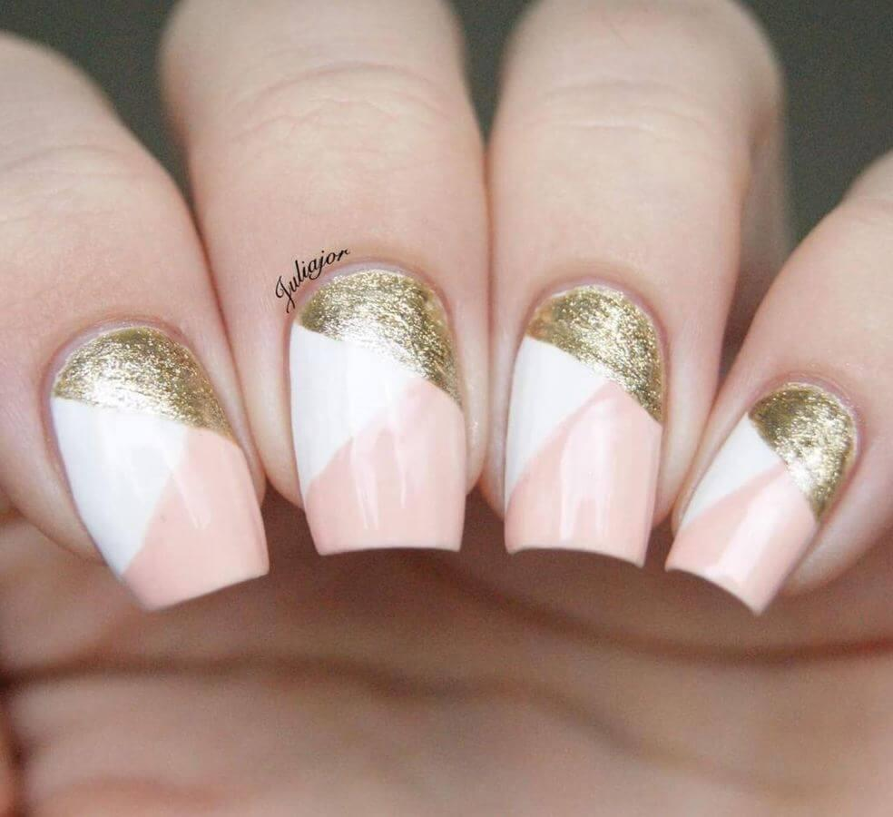 Who says subtle has to be boring? Just add a touch of glitter to your nails.