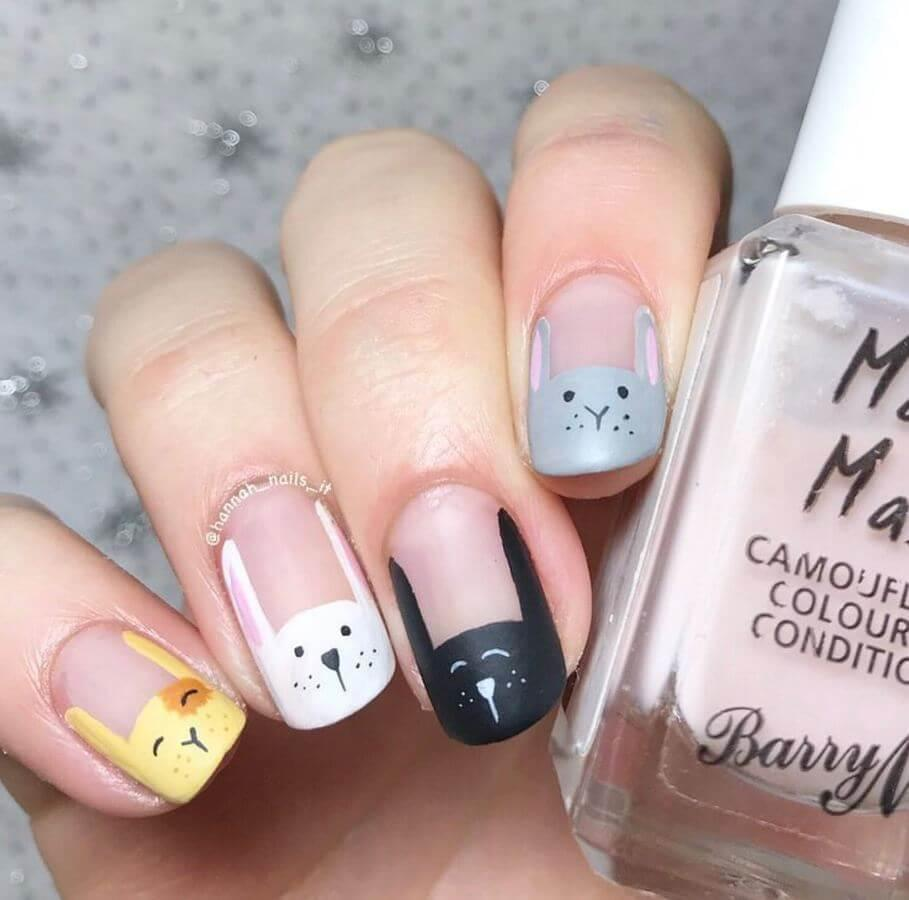 Say yes to adorable Easter bunny nails!