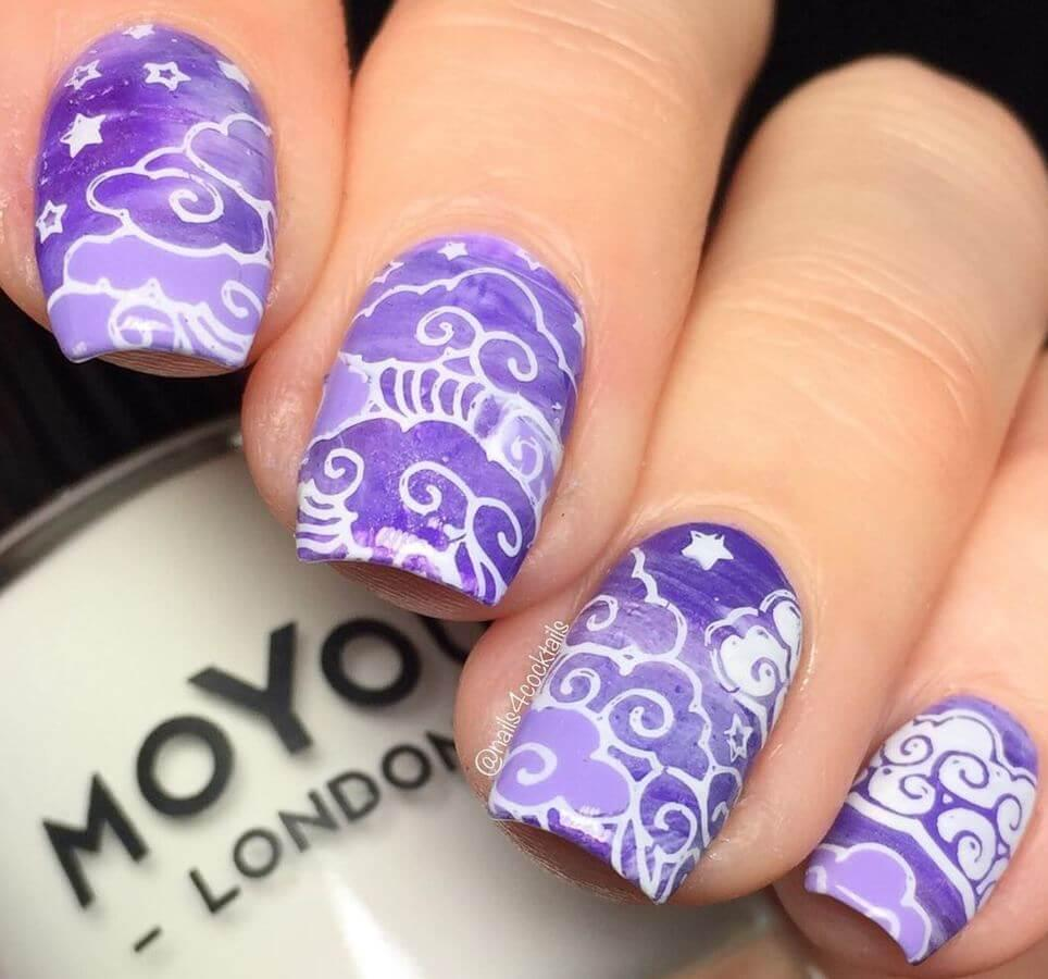 Lavender clouds and swirls are just stunning!