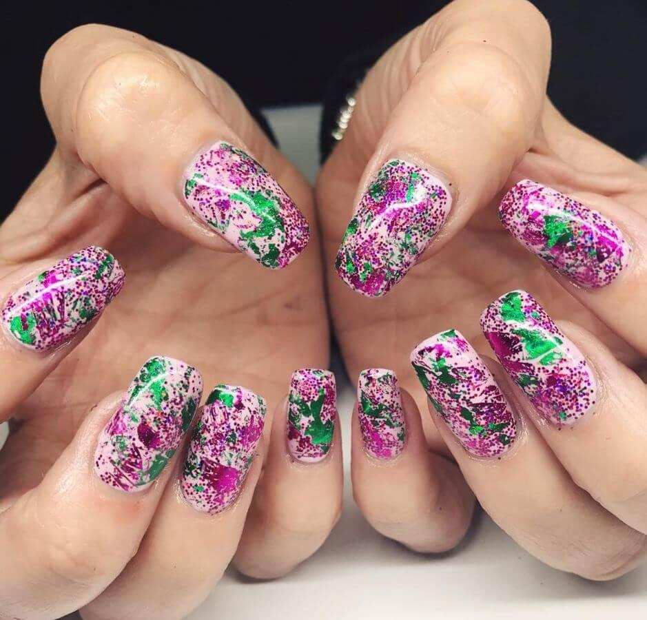 Abstract nails are sometimes the best way to go. They're easy to do, and the results are always beautiful!