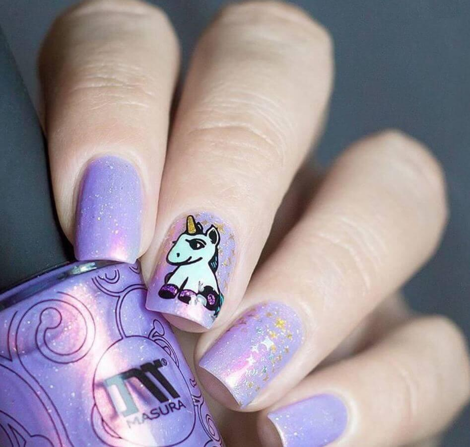 Any day is a good day for unicorn nails!