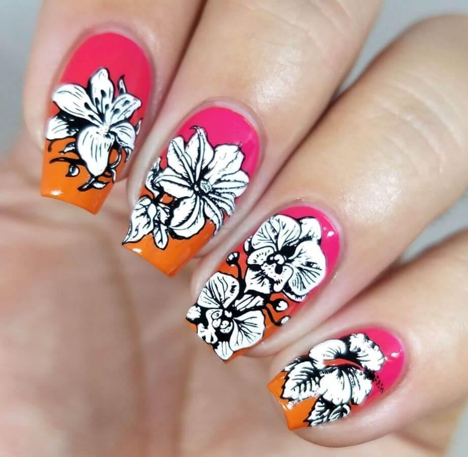 It doesn't get better than floral nails for Easter!