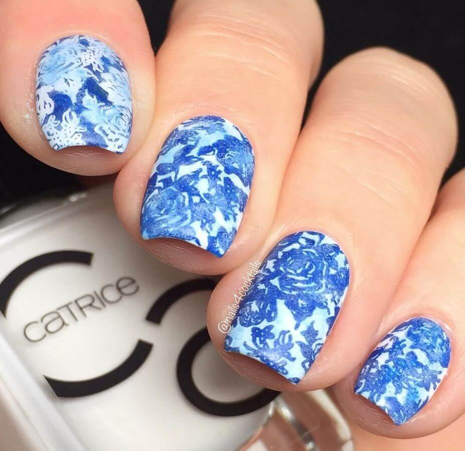 These Porcelain print nails are a work of art!