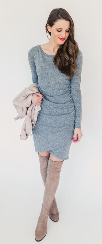 A wrap dress is an excellent transitional piece that works perfectly for tricky in-between weather