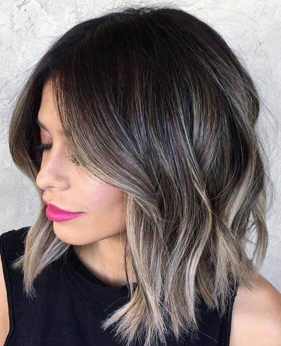 If you are a brunette, try subtle ash blonde highlights to give you that chic ombre effect