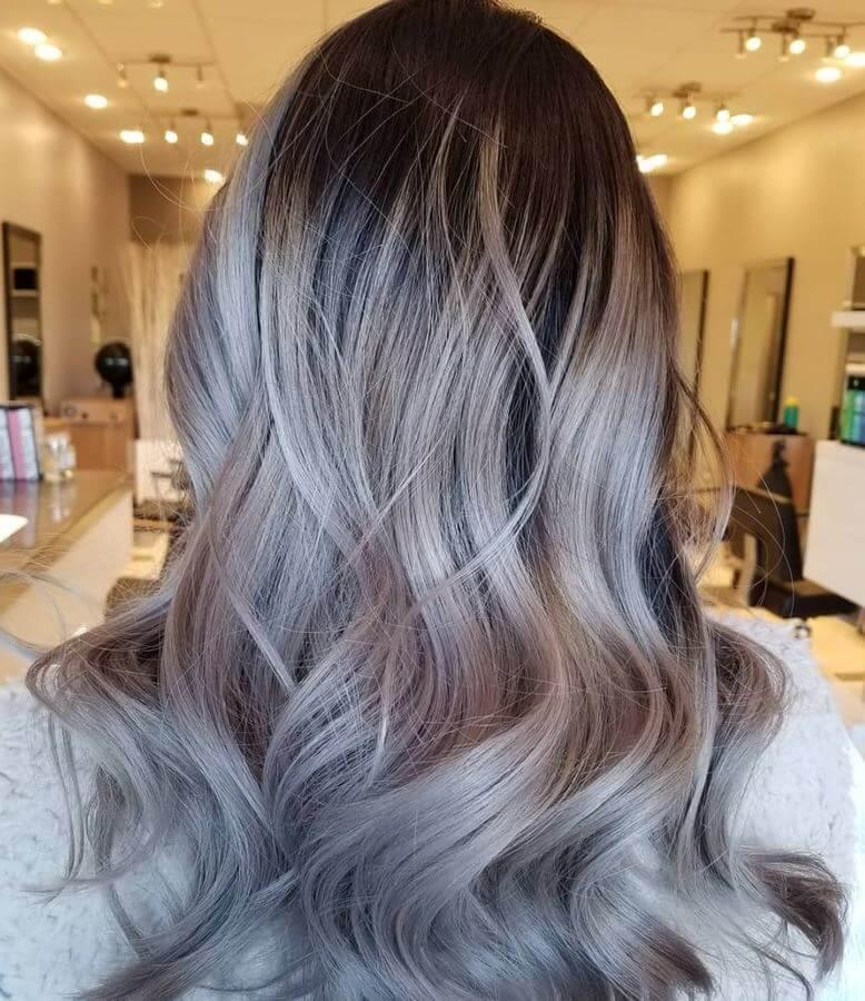 This Silver ash blonde look is to die for!