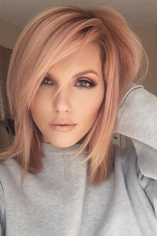 Attractive Slight Red Tones Look Incredible On Blonde Hair Amazing Design