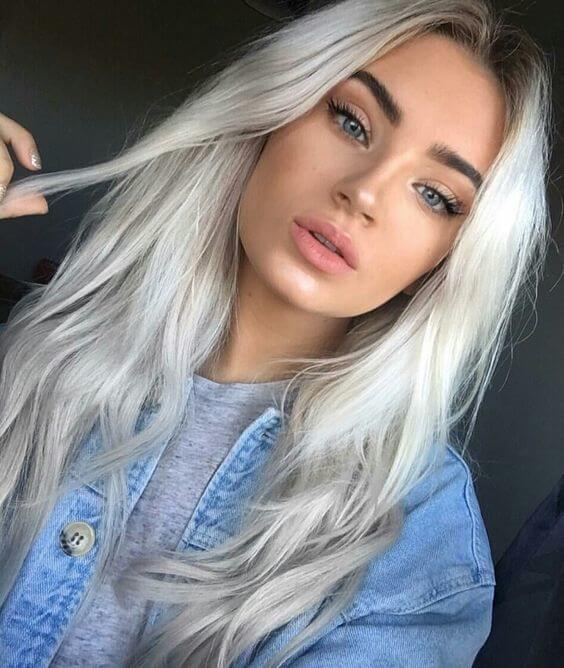 Statement platinum hair is an excellent choice for faired skin ones with blue or green eyes