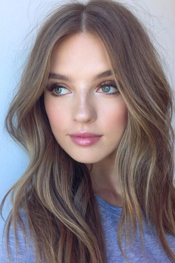 Ash brown hair is great for women with cool undertones