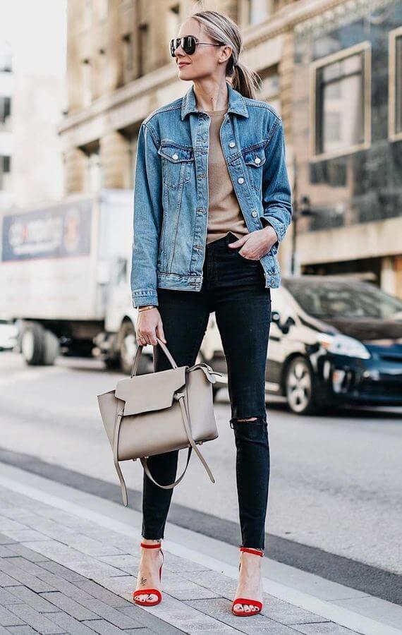 When in doubt just throw on a t-shirt with your favorite jeans and top it off with a denim jacket.
