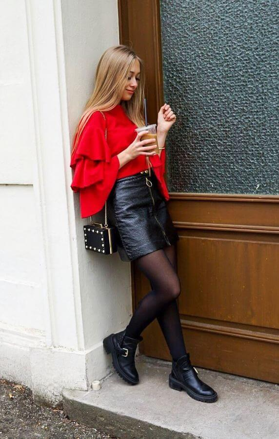 It's all about the layered sleeves this year. Wear yours with a fitted mini and ankle boots!