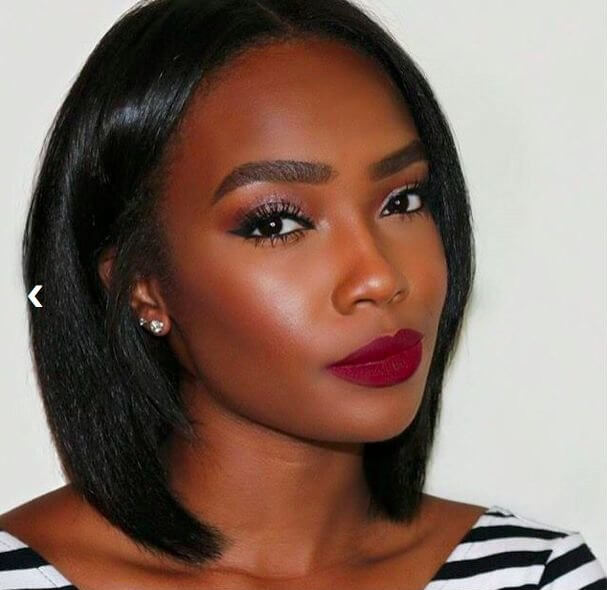 Highlight your black lashes and apply perfectly toned dark red lipstick. This can be your everyday makeup for hot summer days.