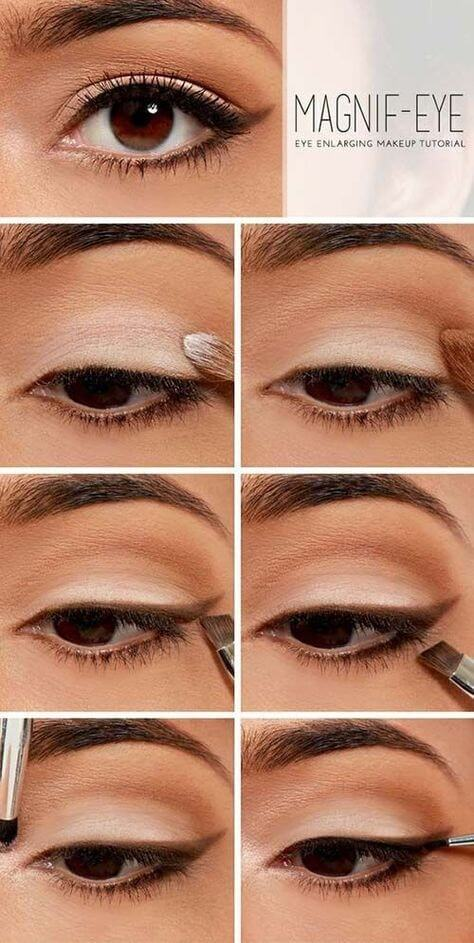 For a simple yet effective way to make your eyes seem larger than they are, try this tutorial