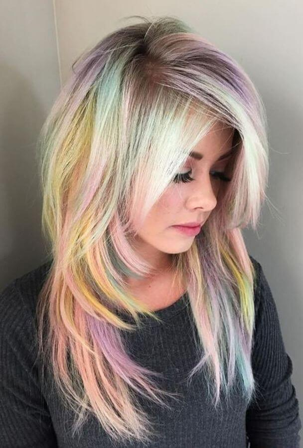 Spread happiness with rainbow colored hair!