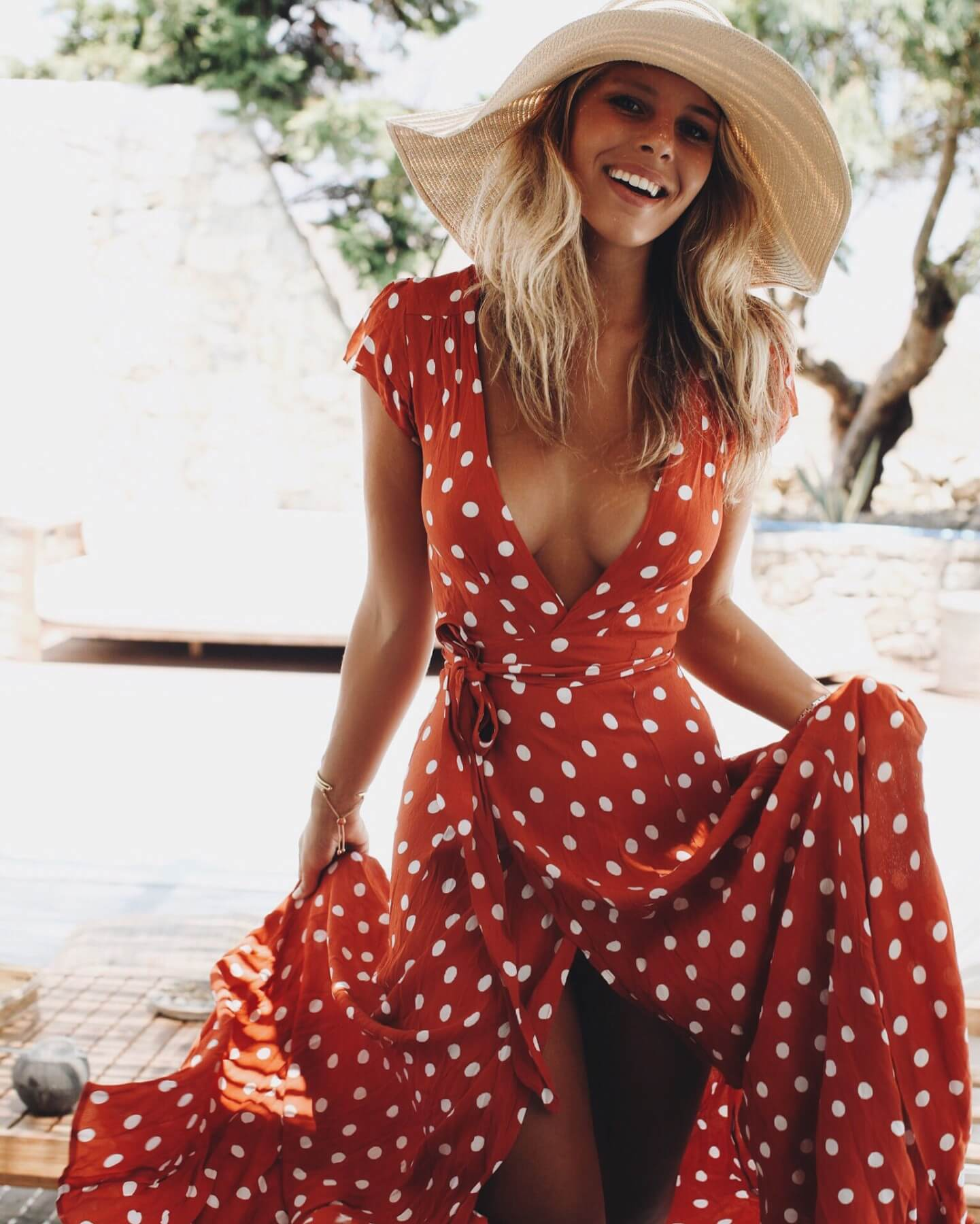 Did you know that polka dots made a huge comeback this year? Wear them in this red variant! #summerstyle #summerfashion