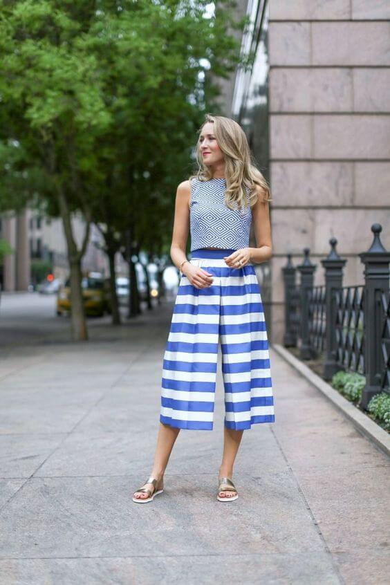 Call them whatever you want - culottes, wide leg pant or gaucho pants they are just fabulous. Their main feature is comfort. #summerstyle #summerfashion
