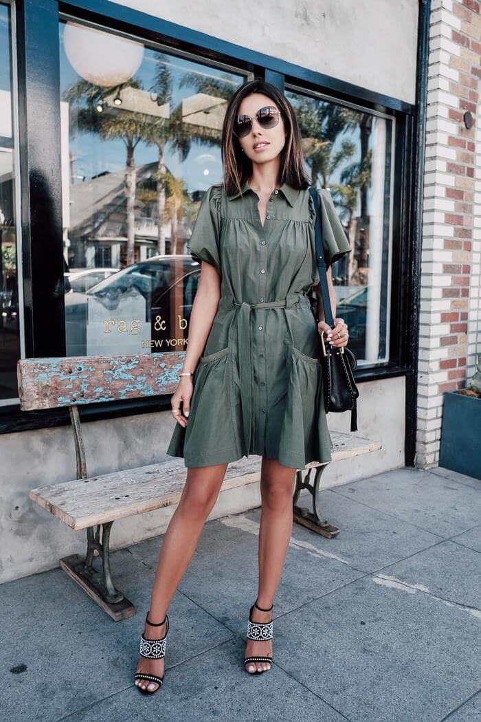 Olive green color has found her way from being used for strictly military purposes, to be one of the best fashion shades. #summerstyle #summerfashion