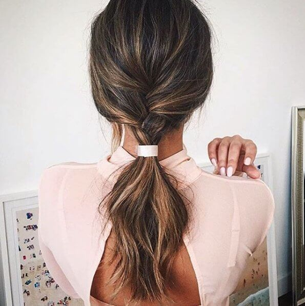 Showing off a pretty ombre style, this color mixes a bit of brunette and blonde to create an elegant, yet unique finish.