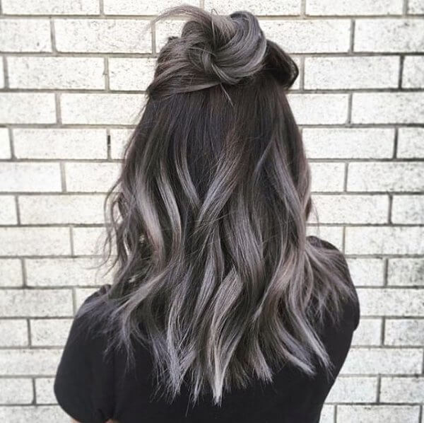 This black and silver mix makes ordinary hair pop and truly stand out from the crowd!