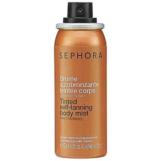 Sephora's gradual tanner comes in a handy spray bottle so that you don't have to bother with mitts.
