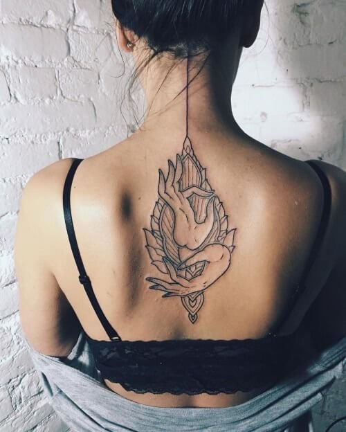 Finding balance inside your mind and body can be expressed on your tattoo as well. #summertattoo #minitattoo #minimalisttattoo