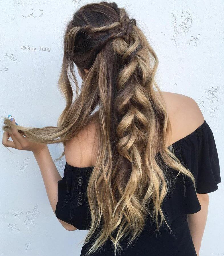 Twisted and then made into one big braid - this hairstyle will be a head turner, count on that! #wavyhair #hairstyle