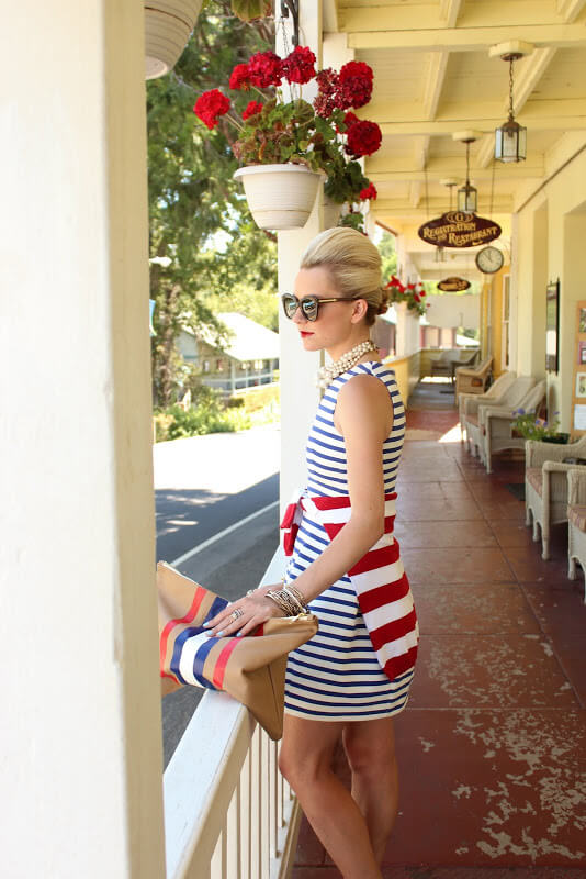 Don't be afraid to combine different kinds of stripes. #4thofjuly #outfits