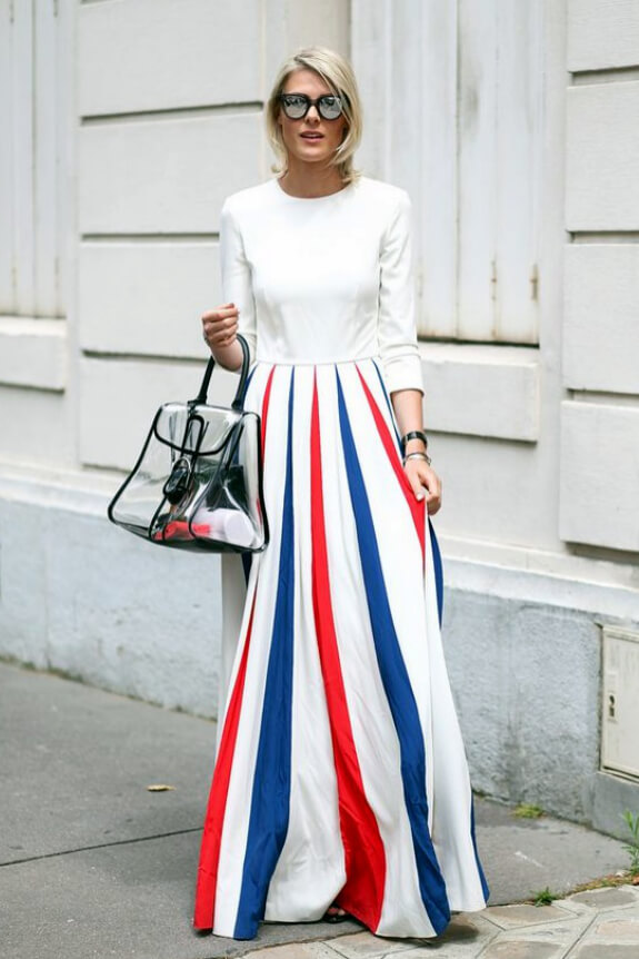 Domination of white color in this outfit is what is adorable! #4thofjuly #outfits