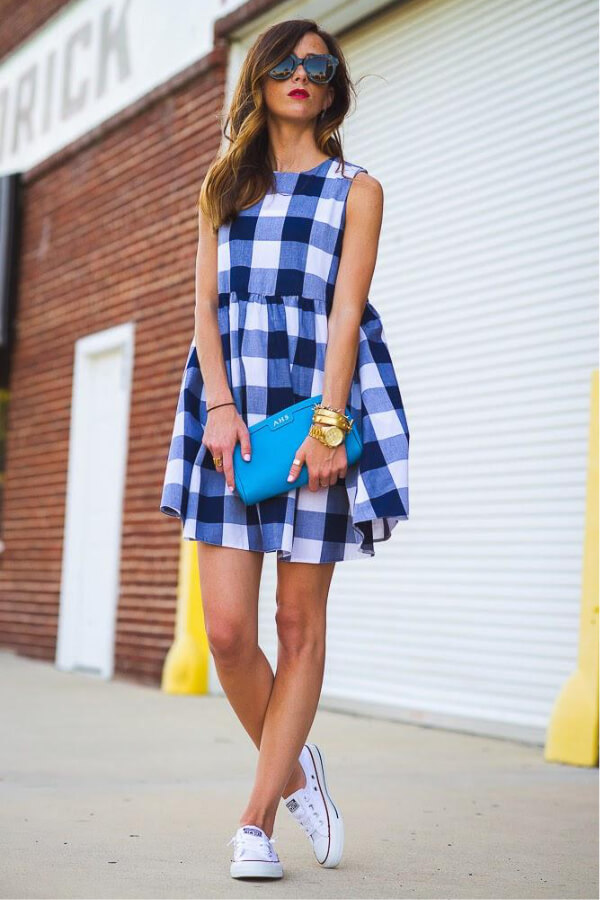 Gingham print looks very chic and stylish, perfect for both casual and elegant occasions #4thofjuly #outfits