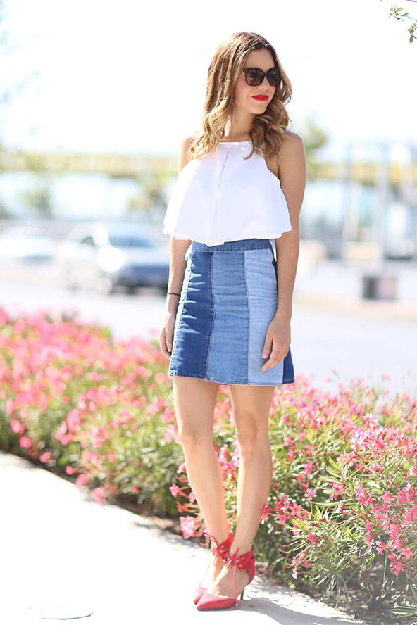 An elegant outfit like this is great to style for family lunch, cocktail party by the pool or if you plan on going out with your friends. #4thofjuly #outfits