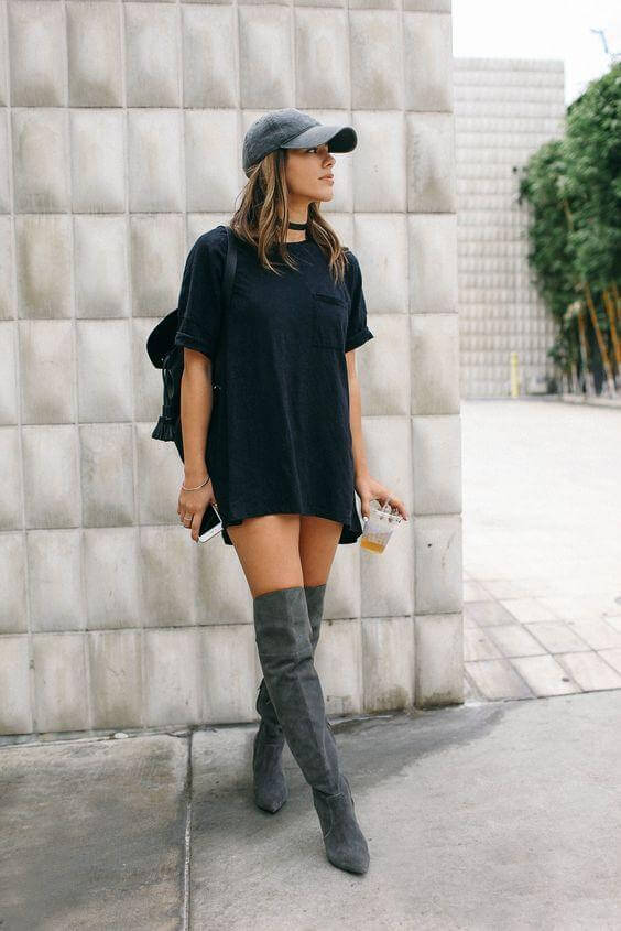 latest release info on huge inventory 8 Amazing Ways to Wear Shirtdress with High Boots – BelleTag