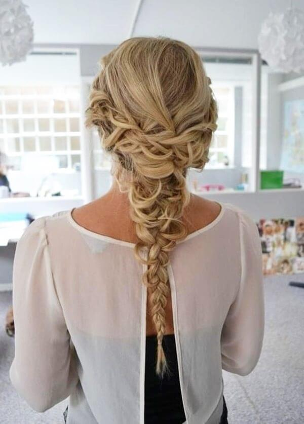 Looks like a messy braid, but it is not so easy to make