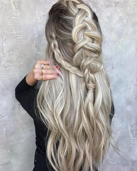 Braids work so well with blonde hair