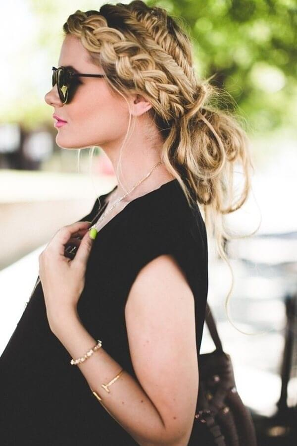 Updos with a French braid
